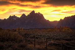 Teton Sunset, Fall 3