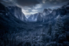 Tunnel View Winter Sunrise