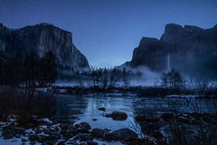 yosemite national park, yosemite, ca, california, trees, black oak, merced river, merced, el capitan, half dome, stars, valley view,  sunrise, morning, bridalveil falls, bridalveil