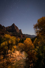 watchman, utah, ut, zion, virgin river, sunset, sunrise, stars, red rock, colorado plateau, southwest, fall, cottonwoods, colors