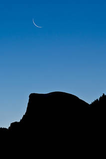 Half Dome Moonrise