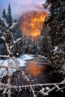 El Capitan Winter Reflection