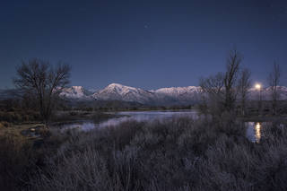 Christmas Morning Moonset