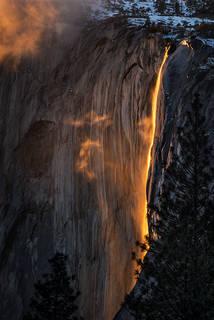 Horsetail Falls Sunset