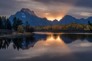 Oxbow Bend Sunset 1