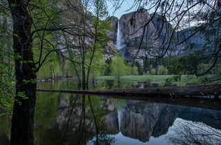 Yosemite Falls Spring Reflections