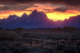 Teton Sunset, Fall 2