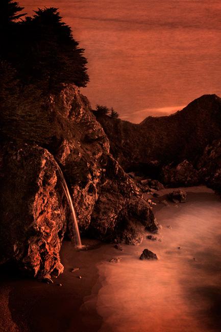 coast, coastal, water, pacific, big sur, sur, big, sunset, twilight, mcway falls, waterfalls, surf, waves, highway 1, hwy 1,  julia, pfeiffer, burns, ca, california, photo
