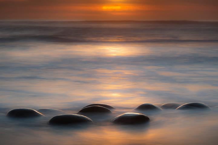 bowling, ball, beach, sonoma, coast, point, pt, arena, waves, coastal, ca, california, hwy 1, highway 1, rocks, boulders, surf, twilight, sunset, photo