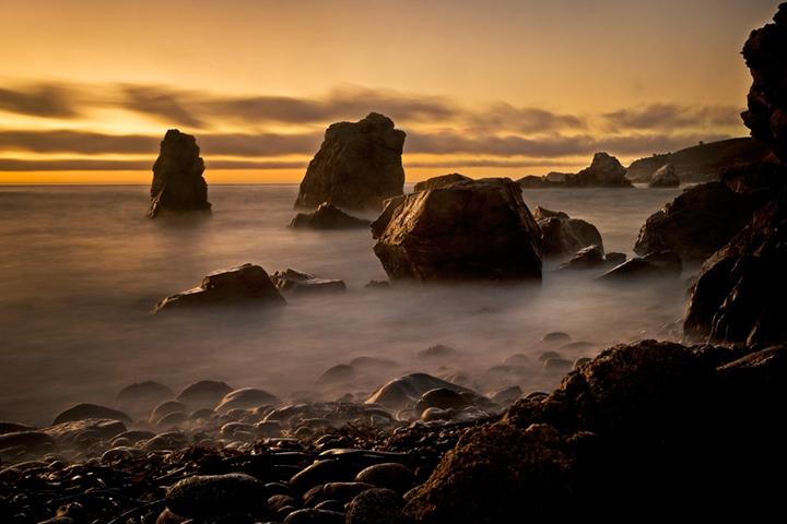 coast, coastal, water, pacific, big sur, sur, big, highway 1, hwy 1, ca, beach, california,  sunset, twilight, ocean,  garrapata,  soberanes, beach, surf, waves, sea stacks,, photo