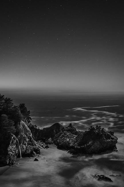 coast, coastal, water, pacific, big sur, sur, big, sunset, twilight, mcway falls, waterfalls, surf, waves, highway 1, hwy 1,  julia, pfeiffer, burns, ca, california, stars, photo
