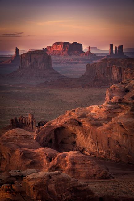 monument valley, southwest, sunset, AZ, UT, arizona, utah, indian land, mountains, desert, hunts mesa, photo