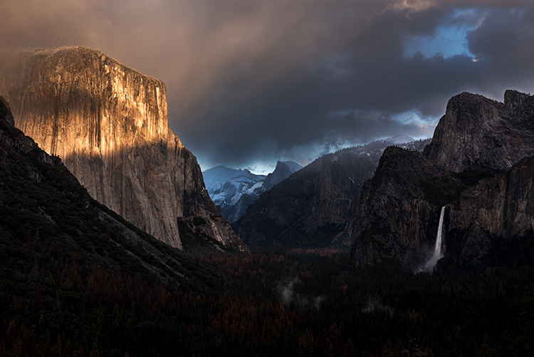 Yosemite, California, Ca, Sierra, valley, Yosemite national park,  el capitan, trees, sunset, tunnel view,  falls, water, clouds, photo