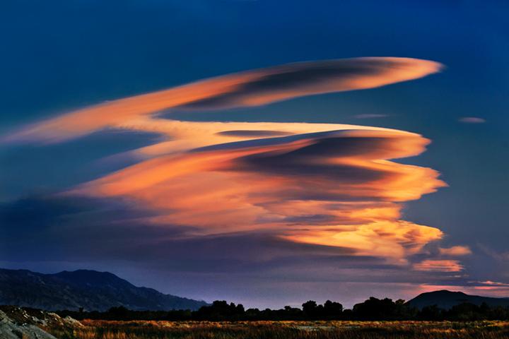 eastern sierra, sierra, lenticular clouds, clouds, bishop, sunset,  spring, ca, california, , photo