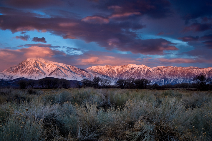 eastern sierra, sierra, lenticular clouds, clouds, bishop, sunrise,  spring, ca, california, sages, owens river valley, owens river, mountains, predawn, photo