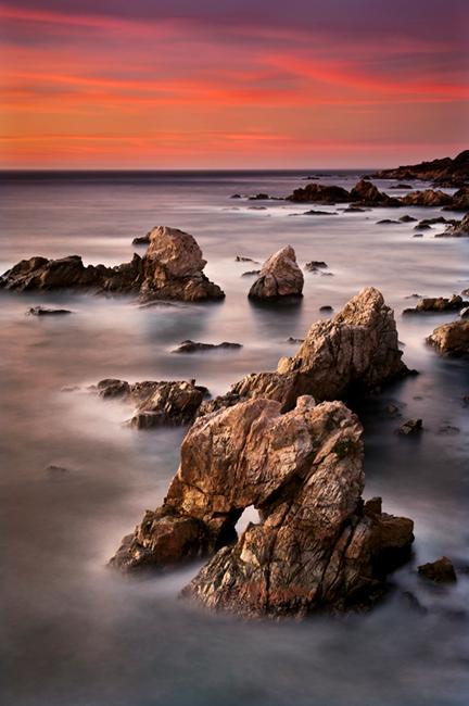 coast, coastal, water, pacific, big sur, sur, big, highway 1, hwy 1, ca, california,  sunset, twilight, ocean,  garrapata,  soberanes, beach, surf, waves, sea stacks, arch, beach, photo