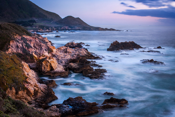 coast, coastal, water, pacific, big sur, sur, big, highway 1, hwy 1, ca, california,  sunset, twilight, ocean,  garrapata,  soberanes, beach, surf, waves, sea stacks, arch, beach, photo