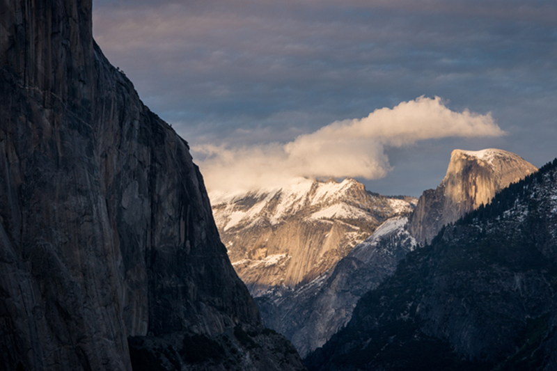 yosemite, mountains, sierra, fog, trees, ca, california, tunnel view, sunset, clouds, half dome, el capitan,, photo