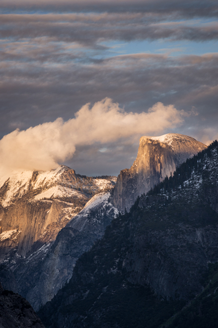 yosemite, mountains, sierra, fog, trees, ca, california, tunnel view, sunset, clouds, half dome, el capitan,, photo