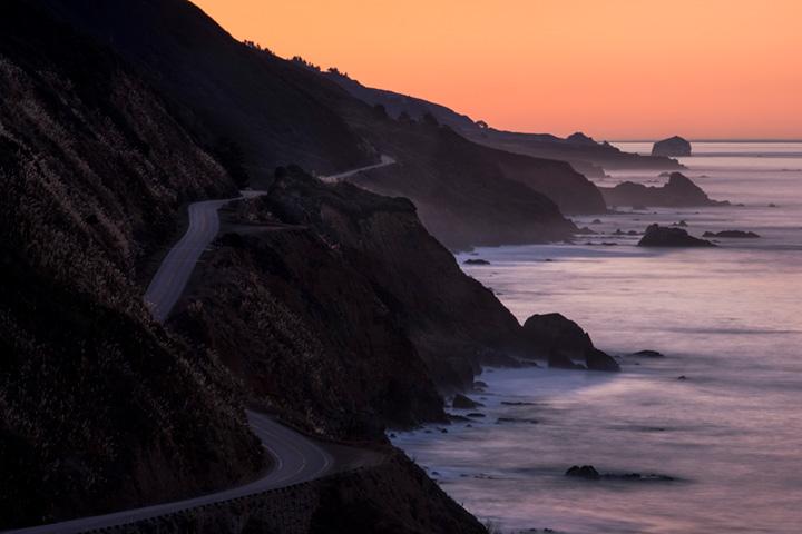 coast, coastal, water, pacific, big sur, sur, big, sunrise, dawn, surf, waves, highway 1, hwy 1,  julia, ca, beach, california, photo