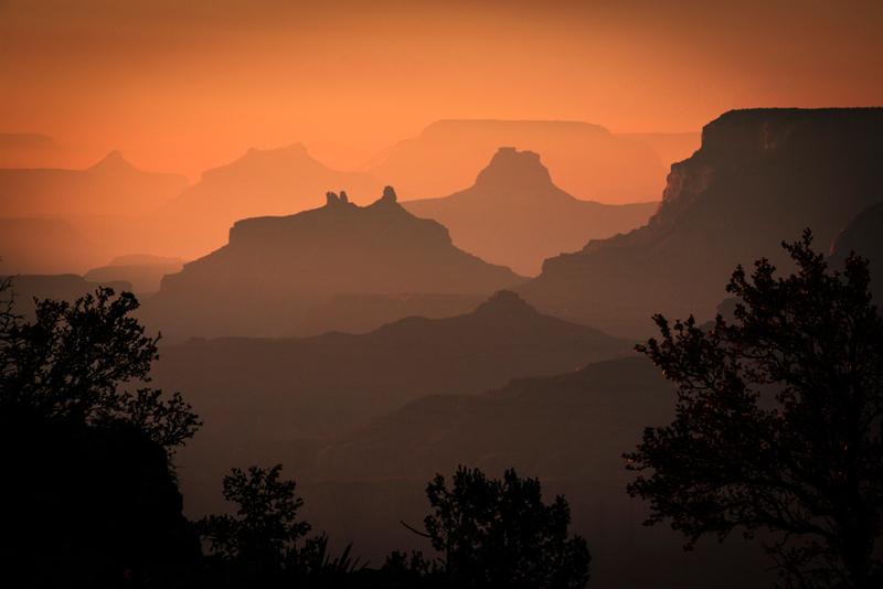 grand canyon, navajo point, sunset, south rim, desert, southwest, az, arizona