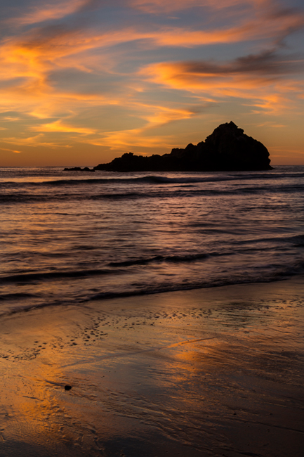 pfeiffer, state, park, coast, coastal, water, pacific, big sur, sur, big, sunset, twilight, surf, waves, beach, highway 1, hwy 1, ca, california, arch, rock, sea stack, , photo