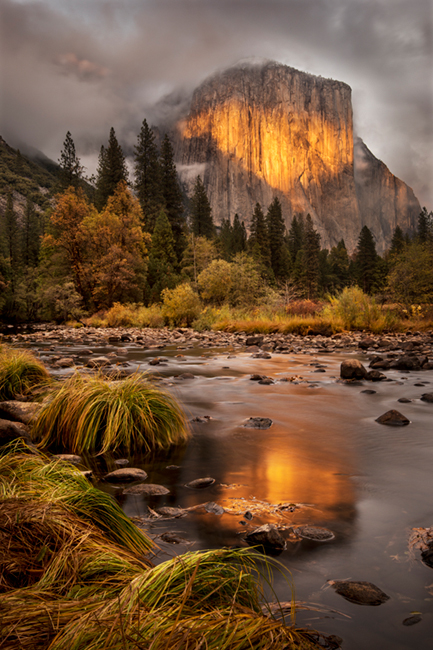 yosemite, merced river, valley, merced, reflections, fall, sierra, river, sierra, mountains, sunset, light, water, el capitan, ca, california, landscape, clouds, fog, atmospherics, photo