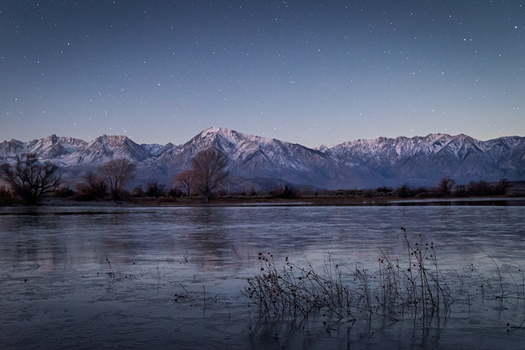 eastern sierra, mountains, clouds, sunset, bishop, ca, california, mountain light, winter, sierra, lenticular,  owens river valley, owens, river, stars, photo
