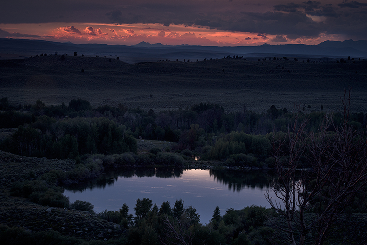wind river mountains,ccc ponds,pinedale sunset,mountains,wy,wyoming, sunset, water, storm, clouds, photo