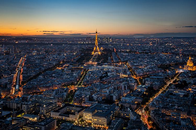 europe, paris, france, eifel, tower, city, cityscape, night, twilight, light sunset, photo