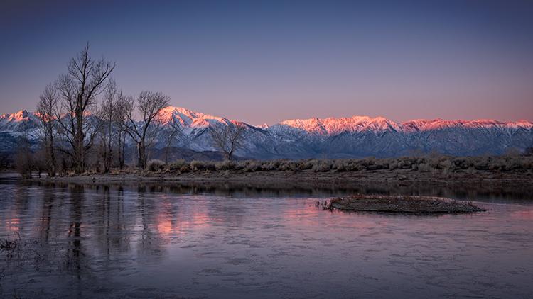 eastern sierra, mountains, clouds, sunset, bishop, ca, california, mountain light, winter, sierra, lenticular,  owens river valley...