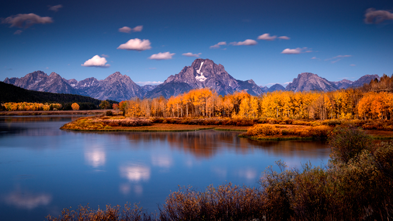 grand tendon national park, tetons, oxbow bend, snake river, snake, river, mountains, trees, water, fall, color, fall colors, aspens, moran, photo