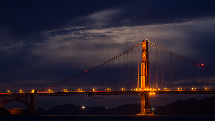 golden gate, golden gate bridge, marin, san francisco, fog, atmospherics, sunrise, predawn, photo