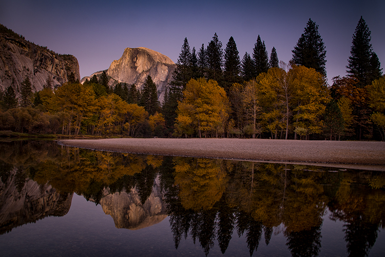 yosemite, national park, ca, california, mountains, sierra, water, half dome, valley, sunset, moonrise, moonlight, moon, fall, colors flora, trees, merced, river, , photo