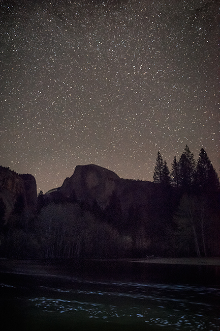 yosemite, national parks, sierra, sierra nevada, el capitan, half dome, cathedral rock, bridalveil falls, predawn, sunrise, mountains, waterfalls, stars, tunnel view, CA, woods, merced river, photo