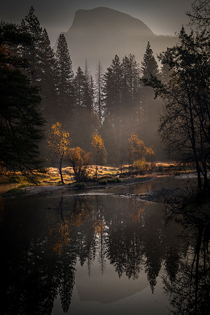 yosemite, national park, sierra, valley, fall, trees, merced, flora, mountains, leaves, ca, colors, dogwoods, merced river, merced, maples, reflections, el capitan, hal dome, photo