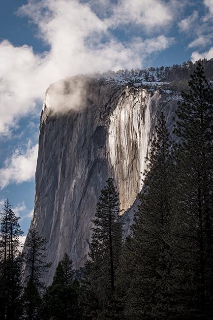 Yosemite, California, Ca, Sierra, valley, Yosemite national park,  el capitan, trees, sunset, horsetail falls, water, clouds, , photo