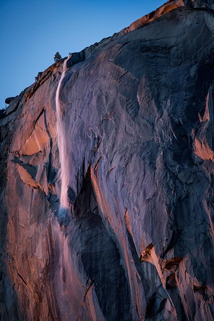 yosemite, sierra, horsetail falls, mountains, sunset, water, california, ca, winter, national park, photo