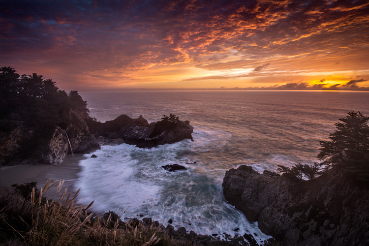 McWay Falls Winter Sunset