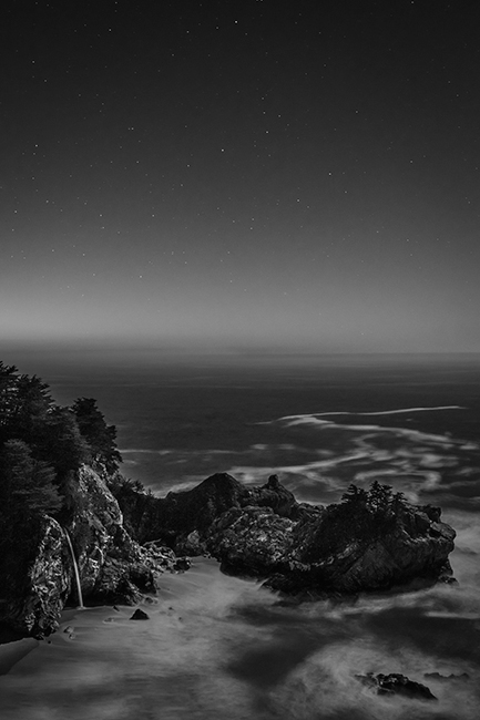 coast, coastal, water, pacific, big sur, sur, big, sunset, twilight, mcway falls, waterfalls, surf, waves, highway 1, hwy 1,  julia, pfeiffer, burns, ca, california, stars, photo
