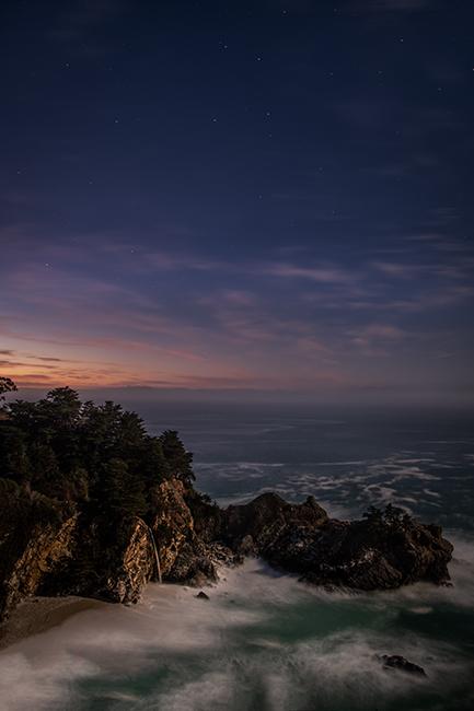 big sur, julia pfeiffer, burns, state park, ca, california, pacific, ocean, water, beach, sunrise, sunset, surf, rocks, rock, surf, stars, water fall, photo