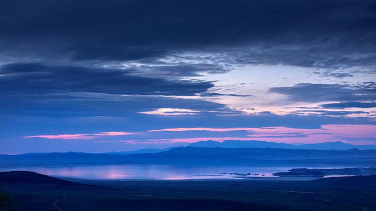 mono lake, sunrise, water, sierra, mountains, california, ca, eastern sierra, storm, clouds, photo