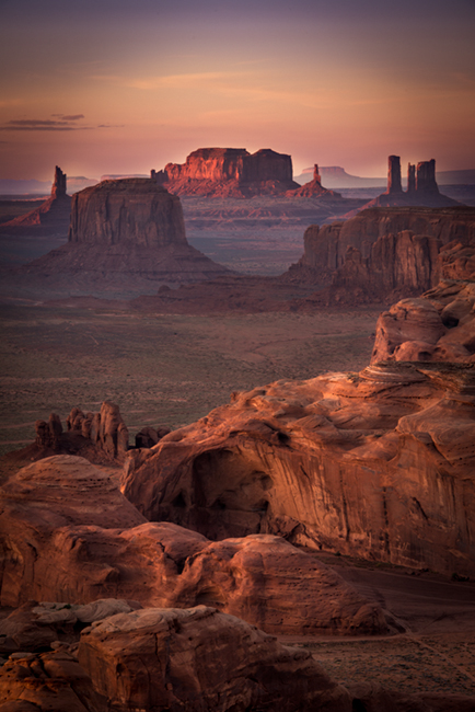 monument valley, southwest, sunset, AZ, UT, arizona, utah, indian land, mountains, desert, hunts mesa, photo