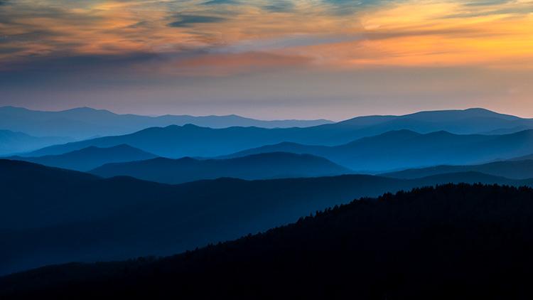 Great Smoky Mountains, smokies, smokys, Tennessee, tn, north carolina, nc, spring, mountains, fog, trees, sunrise, mornings