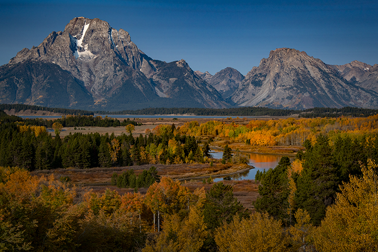 snake river, snake, river, mountains, landscape, tetons, grand tetons, jackson, trees, national park, water, fall, atmospherics, sunrise, flora, firs, aspens, colors, wyoming, oxbow bend, snake river,, photo