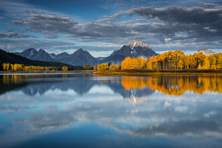 grand teton national park, tetons, oxbow bend, snake river, snake, wyoming, wy, river, mountains, trees, water, fall, color, fall colors, aspens, snake river, grand teton national park,  tetons, nati, photo