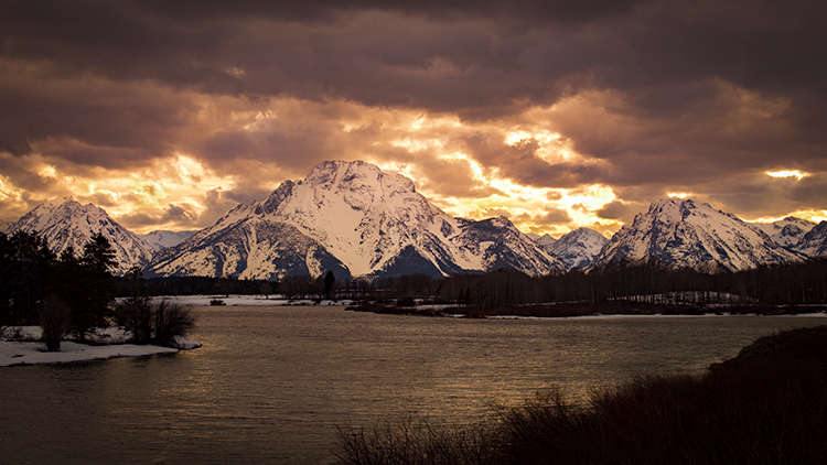 grand tendon national park, tetons, oxbow bend, snake river, snake, wyoming, wy, river, mountains, trees, water, winter, color, clouds, aspens, snake river, grand teton national park,  tetons, sunset, photo