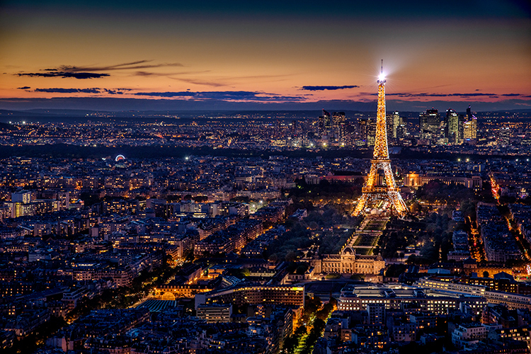 europe, paris, france, eifel, tower, city, cityscape, night, twilight, light sunset, photo