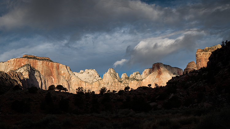 zion, zion national park, mountains, southwest, utah, maples, fall colors, fall, temple, towers,  sunrise, alpine glow, , photo