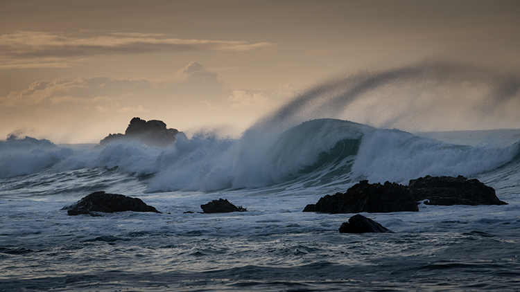 California, CA, water, beach, beaches, coast, coastline, rocks, sunrise, big sur, pfeifer, state, park, atmospherics, clouds, light, winter, waves, central, photo